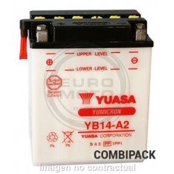 Batería YB14-A2 Yuasa Combipack
