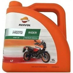 Aceite Repsol Moto Rider 4T 20W50. 4L