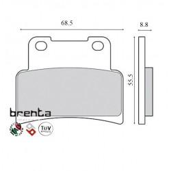 Pastillas de freno Brenta FT 3098