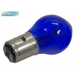 Lámpara BA20D 12V 35/35W. AZUL