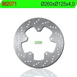 Disco de freno NG 071 Ø260 x Ø125 x 4