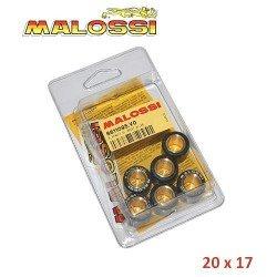 Rodillos variador 20x17. 6 Unidades. Malossi