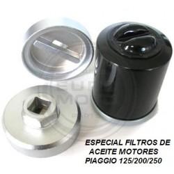 Llave filtro aceite Piaggio Cromada