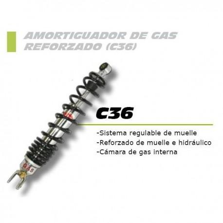Amortiguador trasero gas FORZA con regulación para Aprilia Scarabeo 125/200/250 -07