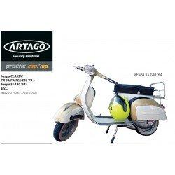 Antirrobo manillar Vespa Classic PX 75/125/200 (taladrar el chasis)